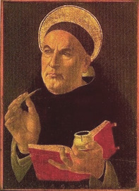 Thomas Aquinas (Sandro Botticelli, Abegg Stiftung, Riggisberg)