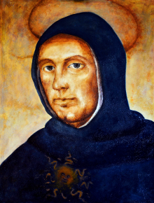 St. Thomas Aquinas, by Mariusz Robak (2011) inspired by Fra Bartolomeo (1472-1517) (The Thomistic Institute (TI), Warsaw)