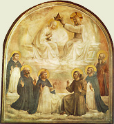 Thomas de Aquino in Coronatione Mariae a Fra Angelico depicta